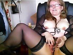 Amateur, Lingerie, Masturbation, Stockings