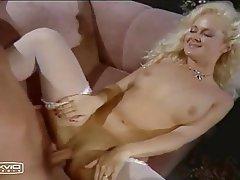 Blonde, Cumshot, Pantyhose, Vintage