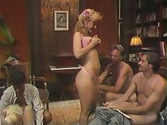 Blowjob, Group Sex, MILF, Blonde, Vintage