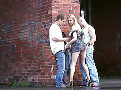 Amateur, Blonde, Gangbang, Threesome