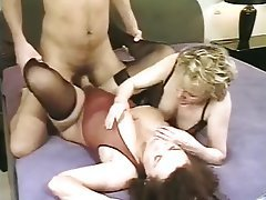 Cum in mouth, Hardcore, Lingerie, Old and Young, Threesome