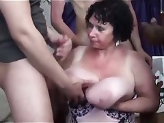 Mature, Big Boobs, Gangbang, Granny