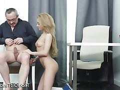 Blonde, Blowjob, Cum in mouth, Hardcore, Teacher