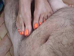Cumshot, Foot Fetish, Footjob