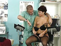 Stockings, Small Tits, Piercing, Doctor