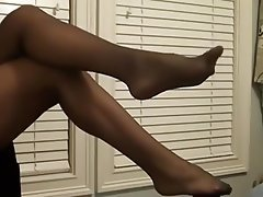 Femdom, Foot Fetish, Pantyhose, Stockings