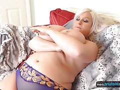 BBW, Masturbation, Mature, Big Tits