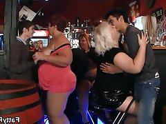 BBW, Big Boobs, Big Butts, Party, Bar