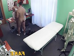 Babe, Blonde, Blowjob, Doctor