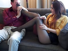 Footjob, Pantyhose