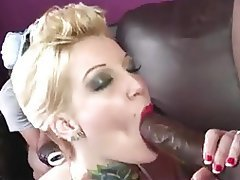 Big Black Cock, Blowjob, Hardcore, Interracial