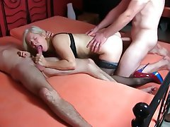 Anal, Blonde, German, MILF, Threesome