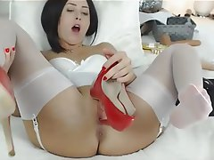 Anal, Foot Fetish, Pussy, Stockings