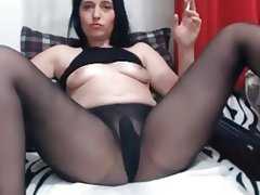 Masturbation, Russian, Orgasm, Pantyhose