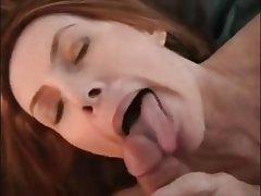 Blowjob, Cumshot, Redhead, Cum in mouth