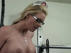 Blonde, Blowjob, Cumshot, Big Boobs, Doctor