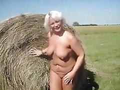 Big Boobs, Granny, Nudist, Pissing