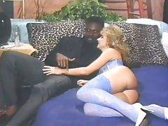 Blonde, Cumshot, Interracial