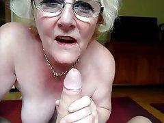 Amateur, Blowjob, British, Granny