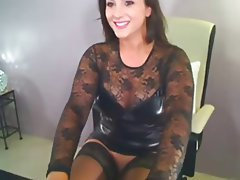 Big Boobs, Brunette, Latex, Masturbation, Webcam