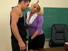 Blonde, Teacher, Hardcore, Fucking