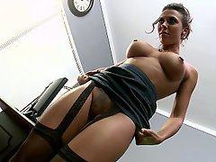 Mistress, Stockings, Lingerie, Brunette