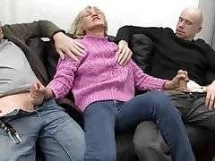 Facial, German, Granny, Mature, Threesome