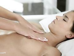Big Tits, Lesbian, Massage, Masturbation