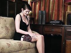 Babe, Hairy, Panties, Stockings