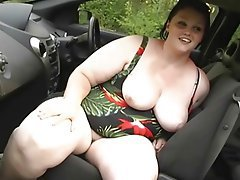 BBW, Masturbation, Orgasm, Outdoor