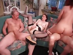 Double Penetration, German, Group Sex, MILF, Swinger