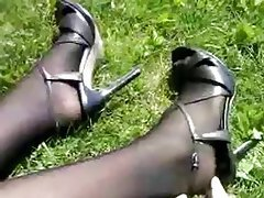 Amateur, Foot Fetish, Pantyhose, Stockings