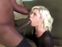 Blonde, Blowjob, Hardcore, Interracial