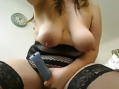 BBW, Masturbation, MILF, Stockings