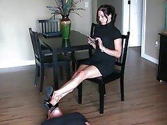 Babe, Femdom, Foot Fetish, Secretary
