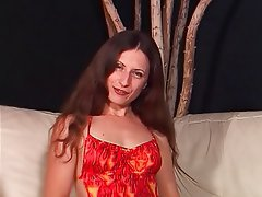 MILF, Blowjob, Brunette, Hairy, Latex