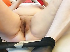 BBW, Masturbation, MILF, Squirt, Stockings