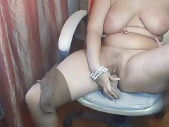 Amateur, BBW, Big Boobs, Masturbation, Webcam