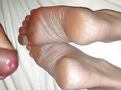Amateur, Cumshot, Foot Fetish, Handjob, Masturbation
