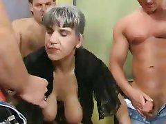 Old and Young, German, Big Boobs, Group Sex