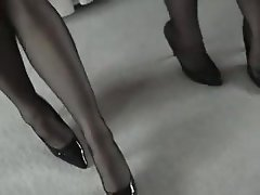 British, Femdom, Foot Fetish, Pantyhose, Stockings