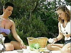 Cumshot, German, Group Sex, Outdoor